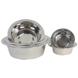 Stainless steel bowl with bones patterns
