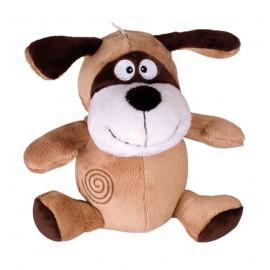 Loofah cuddly dog toy