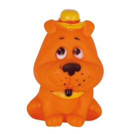 Seated-dog squeaky dog toy
