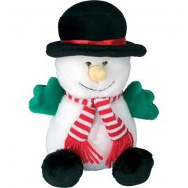 Quiet snowman cuddly dog toy