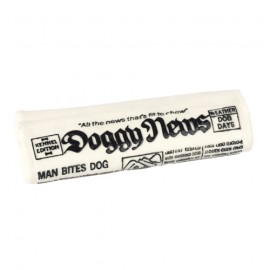 Newspaper squeaky dog toy