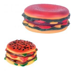 Hamburger squeaky dog toy