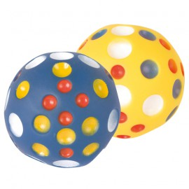 Soft ball with spots for dog