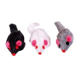 Vibrating hamster plush cat toy