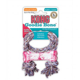Kong Goodie bone with rope for puppy