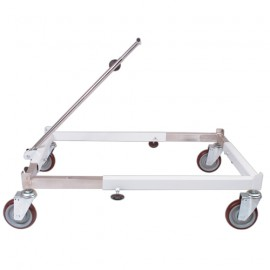 Painted metal cart