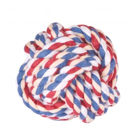 Coloured rope ball